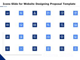 Icons Slide For Website Designing Proposal Template Ppt Powerpoint Themes