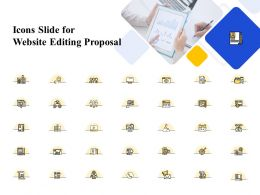 Icons Slide For Website Editing Proposal Ppt Powerpoint Presentation Icon Clipart