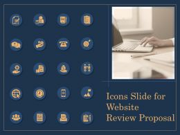 Icons Slide For Website Review Proposal Ppt File Brochure