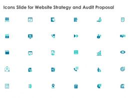 Icons Slide For Website Strategy And Audit Proposal Ppt Powerpoint Presentation Styles Inspiration