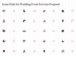 Icons Slide For Wedding Event Services Proposal Ppt Powerpoint Presentation File