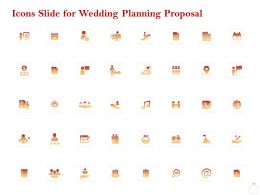 Icons Slide For Wedding Planning Proposal Ppt Powerpoint Presentation Gallery