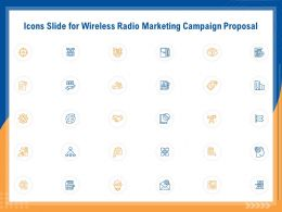 Icons Slide For Wireless Radio Marketing Campaign Proposal Ppt File Elements