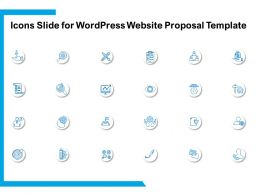 Icons Slide For WordPress Website Proposal Template Ppt Powerpoint Presentation Examples