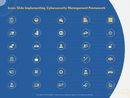Icons Slide Implementing Cybersecurity Management Framework Ppt Example File