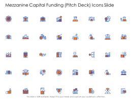 Icons Slide Mezzanine Capital Funding Pitch Deck Ppt Infographics Graphics Tutorials