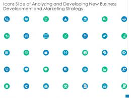 Icons Slide Of Analyzing And Developing New Business Development And Marketing Strategy Ppt Icon Vector