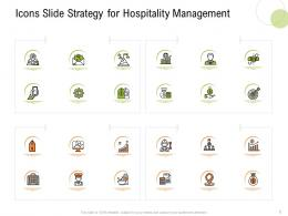 Icons Slide Strategy For Hospitality Management Strategy Hospitality Management Ppt Tips