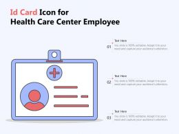 Id Card Icon For Health Care Center Employee