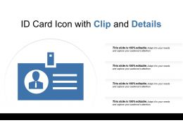Id Card Icon With Clip And Details