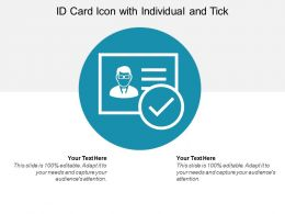 Id Card Icon With Individual And Tick