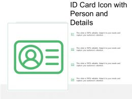 Id Card Icon With Person And Details