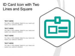 Id Card Icon With Two Lines And Square