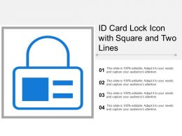Id Card Lock Icon With Square And Two Lines