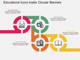 id Educational Icons Inside Circular Banners Flat Powerpoint Design