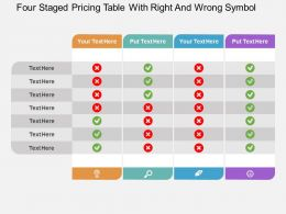id_four_staged_pricing_table_with_right_and_wrong_symbol_flat_powerpoint_design_Slide01
