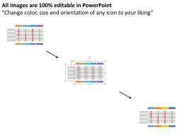 Id Four Staged Pricing Table With Right And Wrong Symbol Flat Powerpoint Design