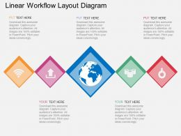 Id Linear Workflow Layout Diagram Flat Powerpoint Design