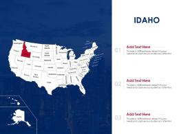 Idaho Map Powerpoint Presentation PPT Template