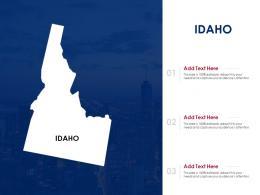 Idaho Powerpoint Presentation PPT Template