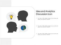 Idea And Analytics Discussion Icon