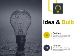 Idea And Bulb Self Improvement Ppt Slides Design Inspiration