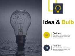 Idea And Bulb Self Improvement Ppt Slides Design Inspiration