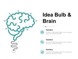 Idea Bulb And Brain Ppt Powerpoint Presentation Inspiration Portfolio