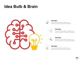 Idea Bulb And Brain Technology Ppt Powerpoint Presentation Gallery Visuals
