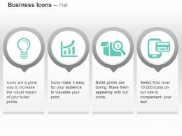 Idea Bulb Growth Bar Financial Search Mobile App Ppt Icons Graphics