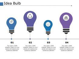 Idea Bulb Marketing Ppt Powerpoint Presentation File Introduction