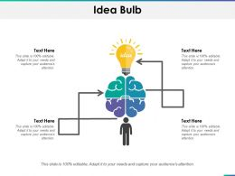 Idea Bulb Ppt Summary Layout