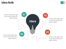 Idea Bulb Ppt Summary Show