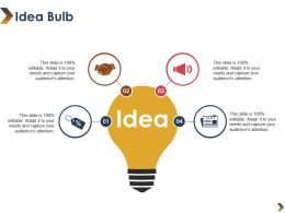 Idea Bulb Ppt Visual Aids Infographic Template