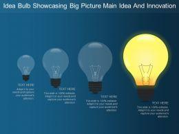 Idea Bulb Showcasing Big Picture Main Idea And Innovation