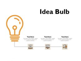 Idea Bulb Technology Ppt Powerpoint Presentation File Outfit