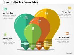 Idea Bulbs For Sales Idea Flat Powerpoint Design