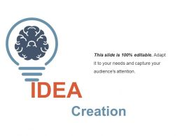 Idea Creation Ppt Infographic Template