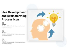 Idea Development And Brainstorming Process Icon