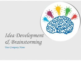 Idea Development And Brainstorming Process PowerPoint Presentation With Slides
