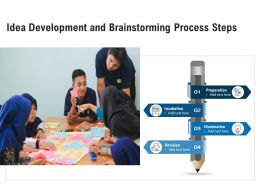 Idea Development And Brainstorming Process Steps