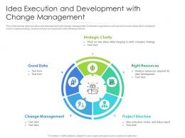 Idea Execution And Development With Change Management