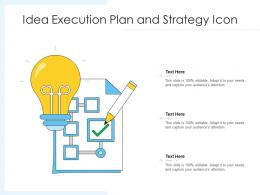 Idea Execution Plan And Strategy Icon