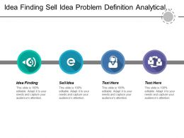 Idea Finding Sell Idea Problem Definition Analytical Thinking
