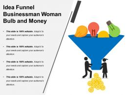 Idea Funnel Businessman Woman Bulb And Money