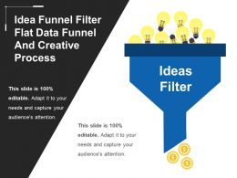 Idea Funnel Filter Flat Data Funnel And Creative Process