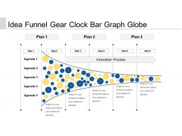 Idea Funnel Gear Clock Bar Graphs Globe