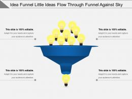 Idea Funnel Little Ideas Flow Through Funnel Against Sky