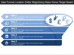 Idea Funnel Location Dollar Magnifying Glass Home Target Board