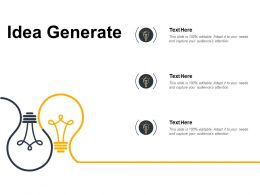 Idea Generate Innovation F366 Ppt Powerpoint Presentation Pictures Professional